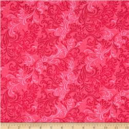 "Essentials 108"" Wide Quilt Back Flourish Fuschia"