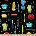 Novelty Print Kitchen Appliances Black/Red/Yellow/Blue