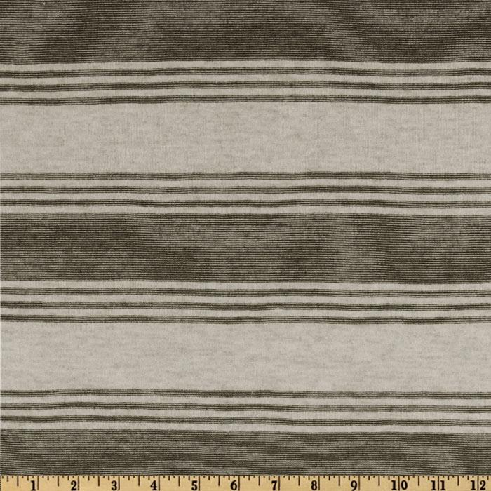 Designer Stretch Rayon Tissue Jersey Knit Stripes Grey